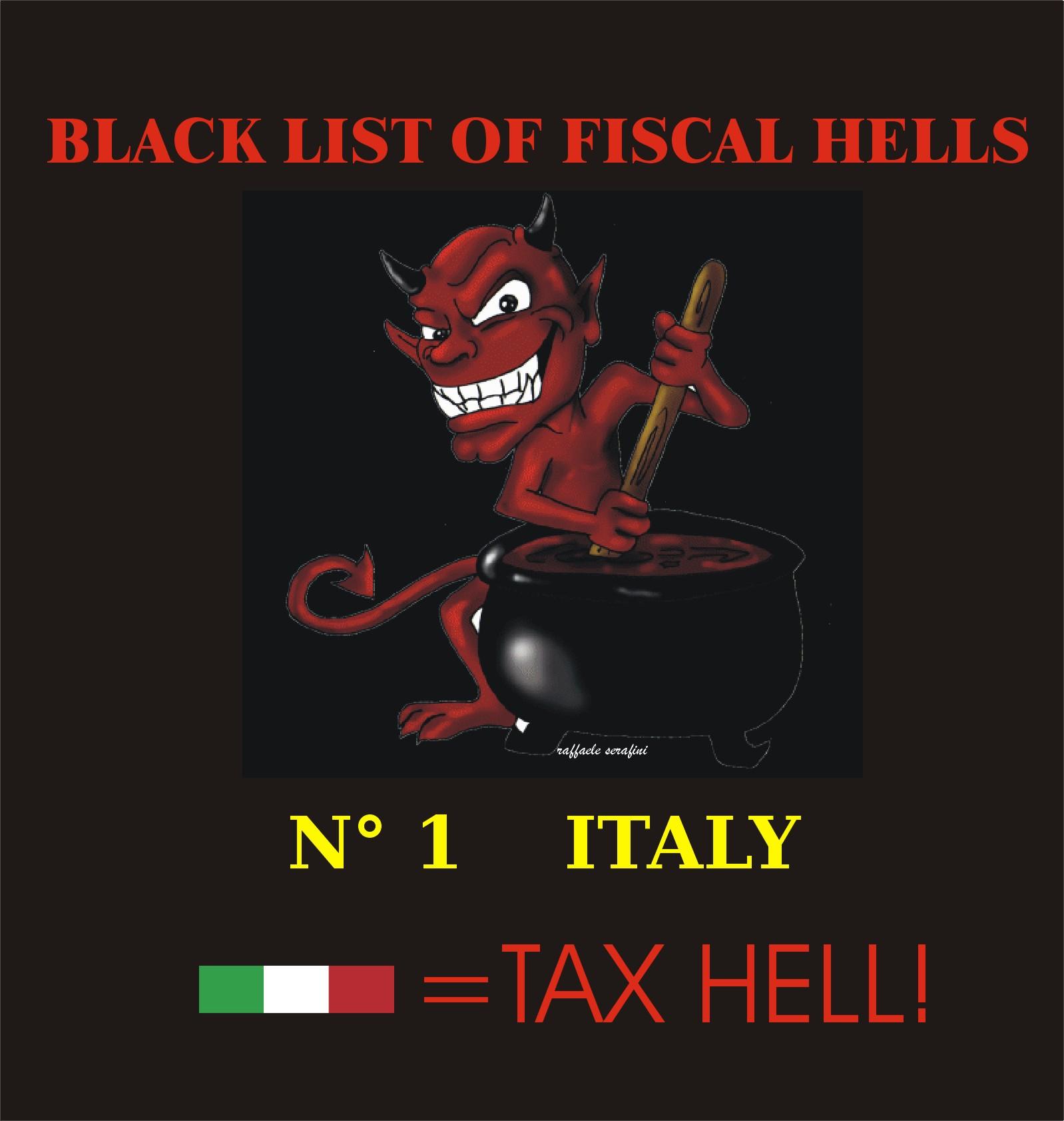 OPPRESSIONE ECONOMICA IN ITALIA: INFERNO FISCALE!