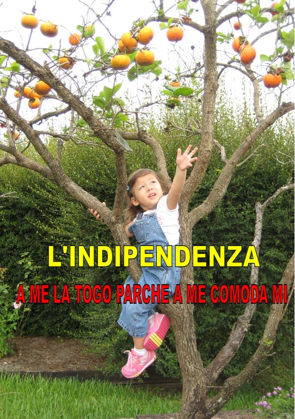 MI PRENDO L'INDIPENDENZA PERCHÉ MI FA COMODO!