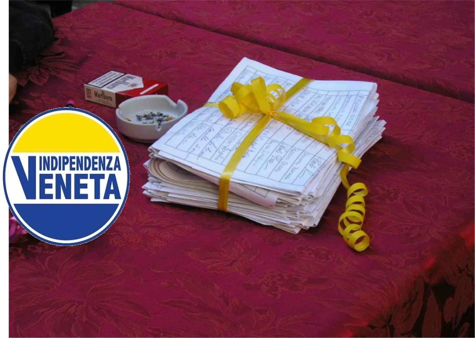 INDIPENDENZA VENETA DEPOSITA 2000 FIRME ALLA CORTE D'APPELLO