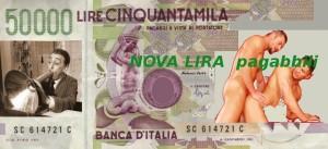 nova lira nuova lira italiana 2012 moneta italy