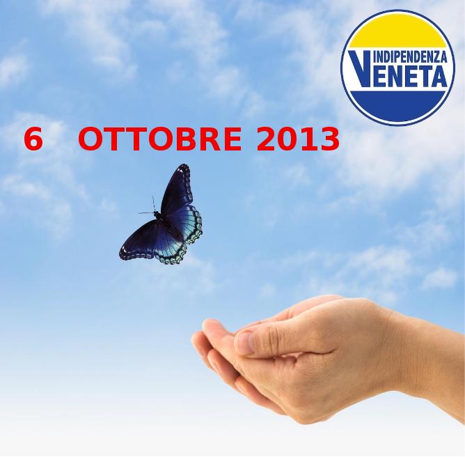 REFERENDUM PER L'INDIPENDENZA  DEL VENETO 6 OTTOBRE 2013
