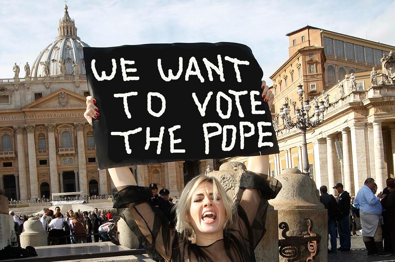 VOGLIAMO VOTARE IL PAPA, WE WANT TO VOTE THE POPE!