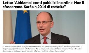 letta 18 dicember 2013