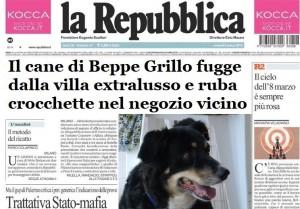 repubblica cane ruba crocchette